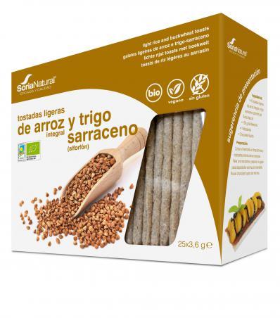 Tostadas de arroz integral y trigo sarraceno