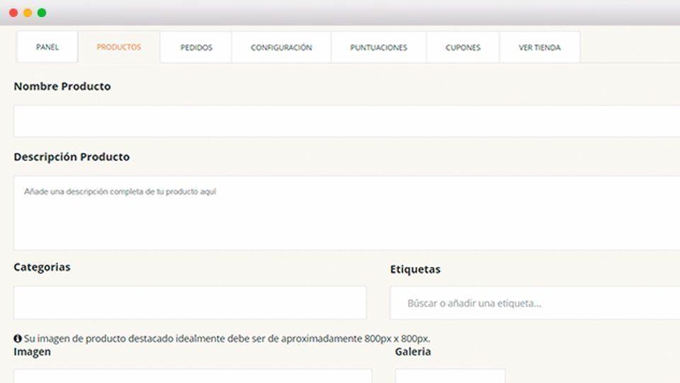 Gestor productos - Andorra MarketPlace